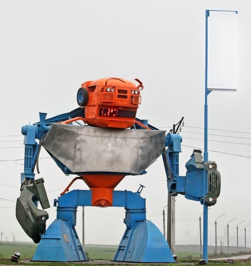 从细节oin的独特的建筑机器人的形式 库存照片