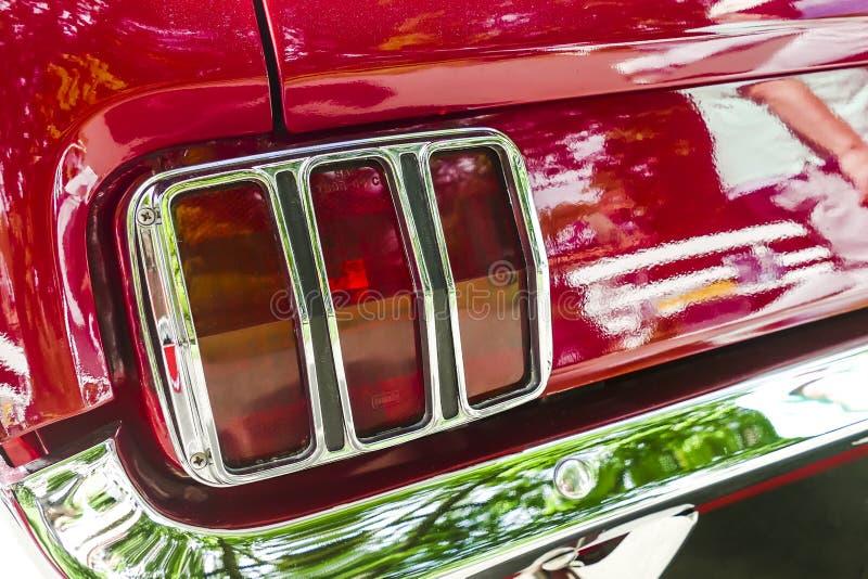 从经典Ford Mustang的细节 库存图片