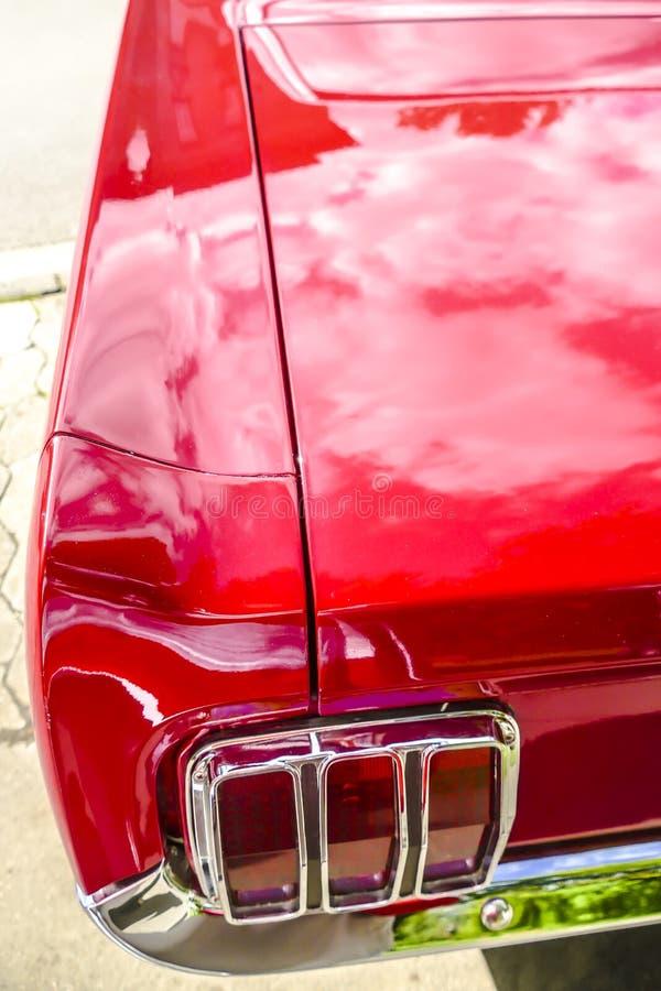 从经典Ford Mustang的细节 免版税库存图片