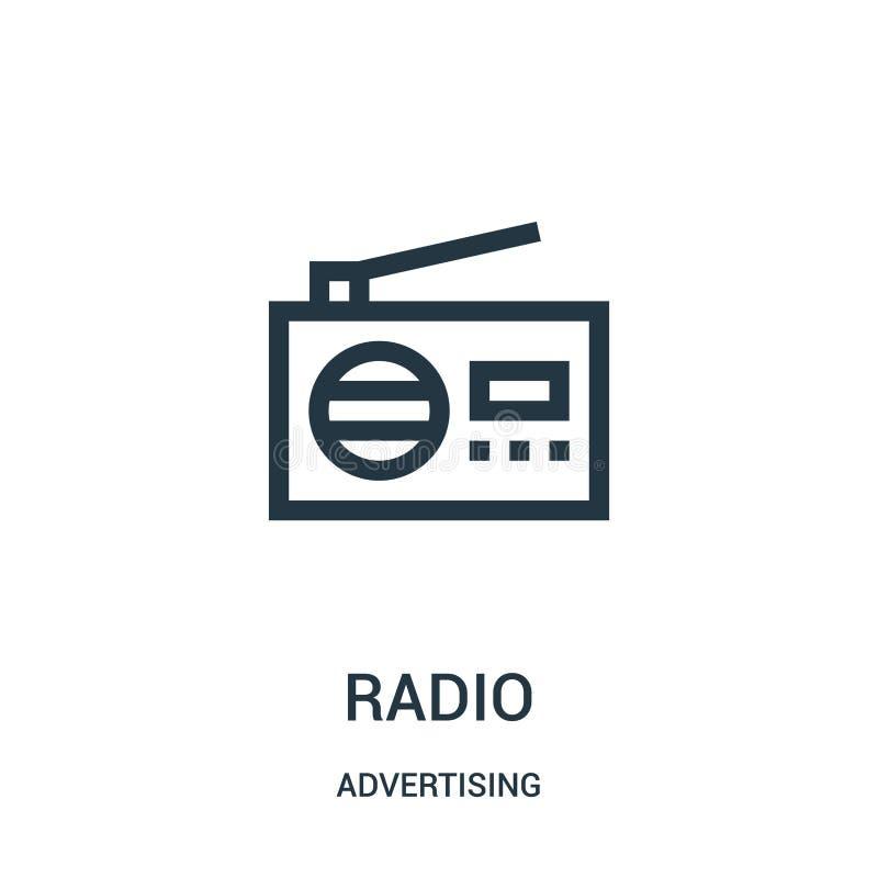 从给汇集做广告的无线电象传染媒介 稀薄的线无线电概述象传染媒介例证 向量例证