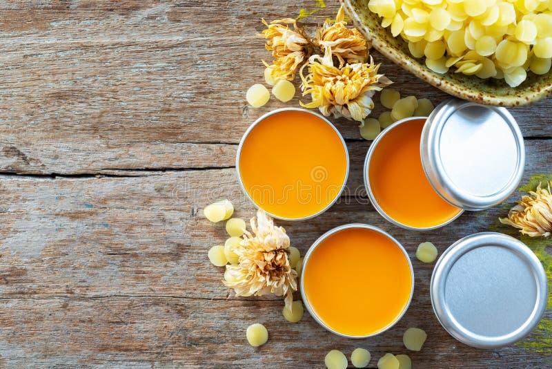 从绛珠子树的自创自然唇膏橘黄色 库存图片