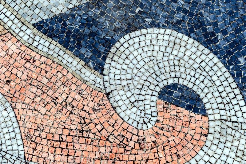 从老小陶瓷砖正方形主角的葡萄酒五颜六色的背景 图库摄影