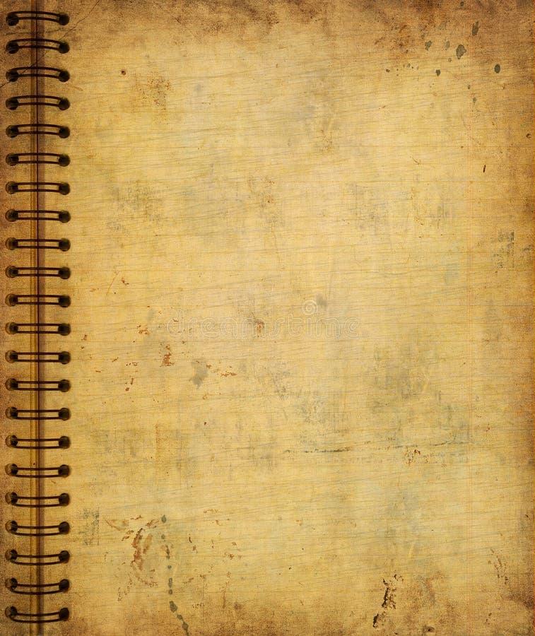 从老grunge笔记本的页 皇族释放例证