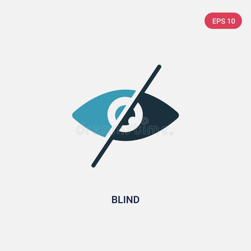 从聪明的房子概念的两种颜色的盲目的传染媒介象 被隔绝的蓝色盲目的传染媒介标志标志可以是网、机动性和商标的用途 皇族释放例证