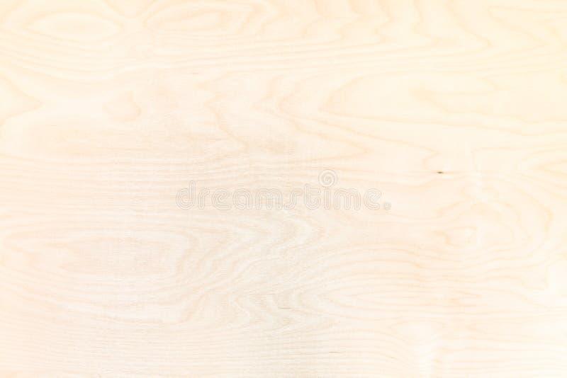 从自然桦树胶合板的木背景 免版税库存照片