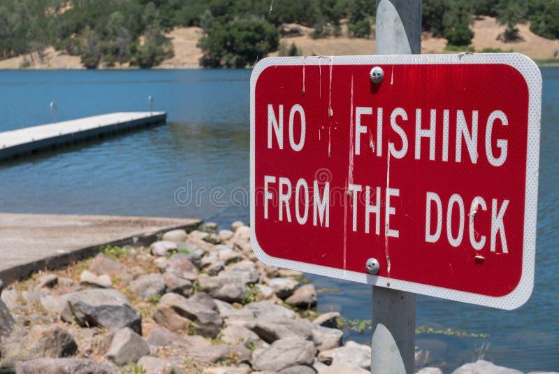 从船坞的没有钓鱼 免版税库存照片