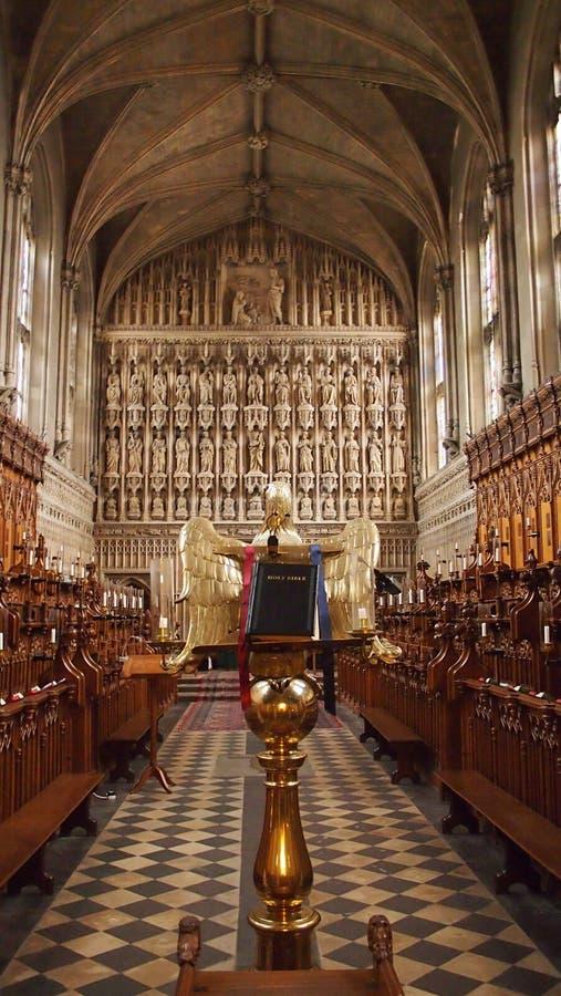 从良的妓女学院教堂,牛津,大英国的内部 免版税库存照片