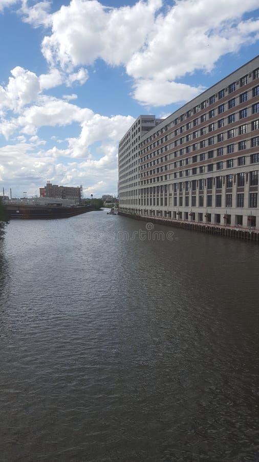 从芝加哥河的一个看法 免版税库存图片