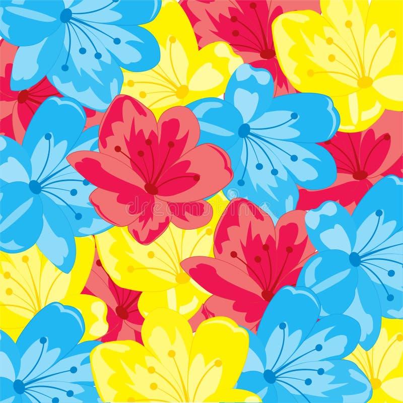 从花的背景 库存例证