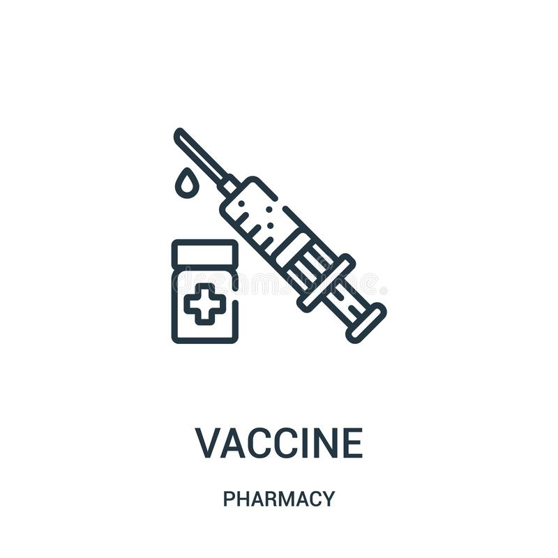 从药房汇集的疫苗象传染媒介 稀薄的线疫苗概述象传染媒介例证 皇族释放例证