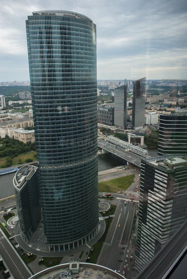 从莫斯科摩天大楼的看法 免版税库存图片