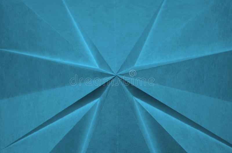 从蓝色origami的抽象十字架 库存照片