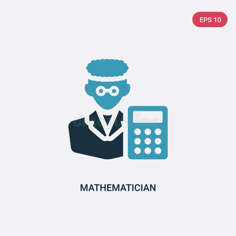 从行业&工作概念的两种颜色的数学家传染媒介象 被隔绝的蓝色数学家传染媒介标志标志可以是用途为 库存例证