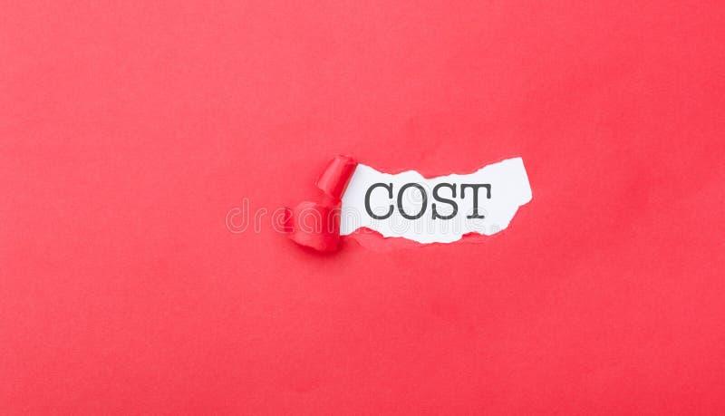 从被剥去的纸显露的暗藏的费用 免版税库存图片