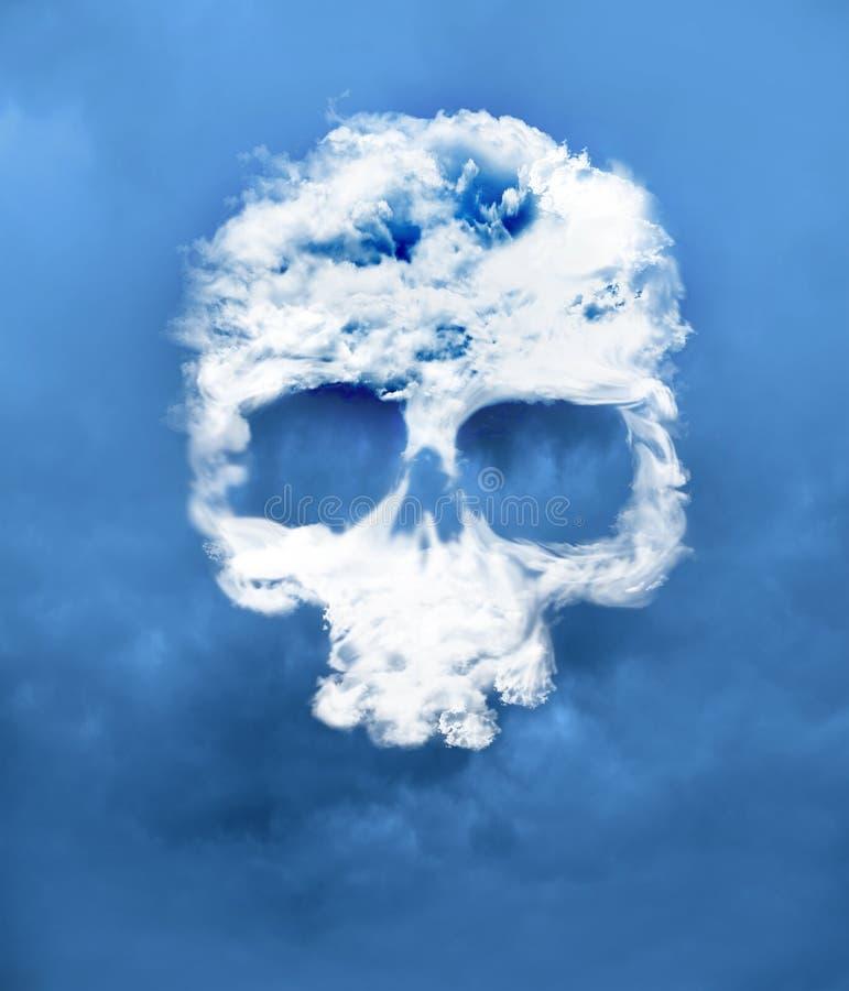 从被开发的云彩的头骨 免版税图库摄影