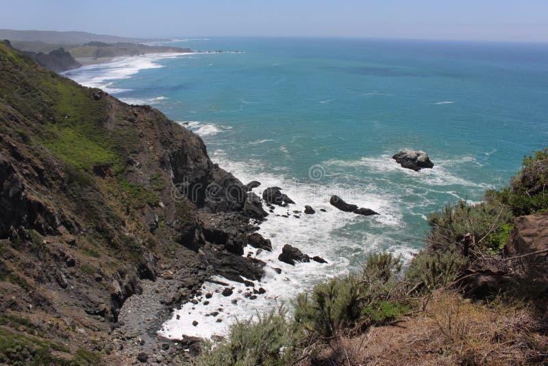 从褴褛点的海景 库存照片