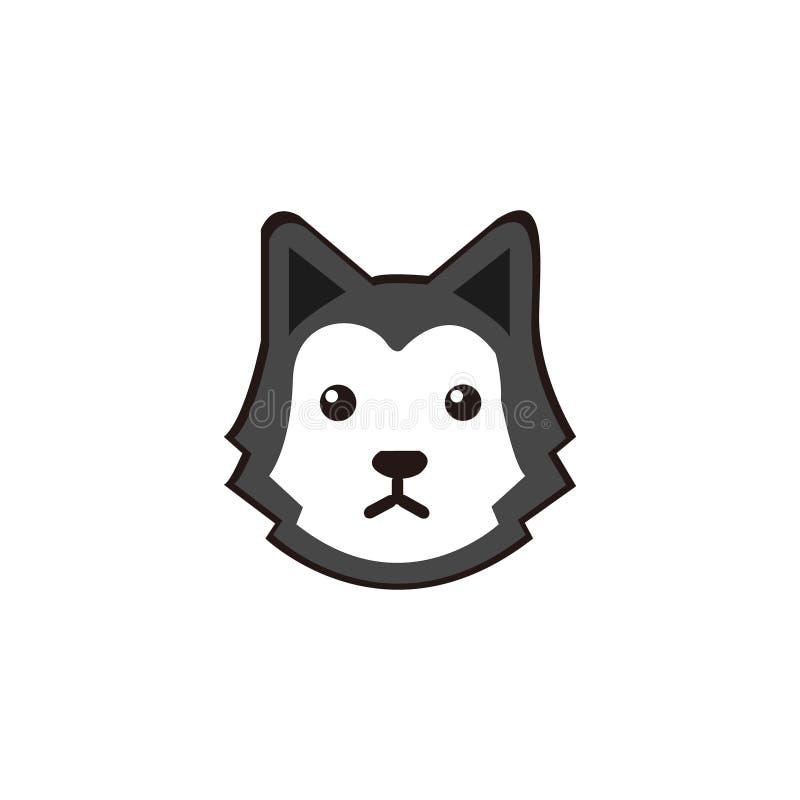从西伯利亚爱斯基摩人狗的小面孔传染媒介 向量例证