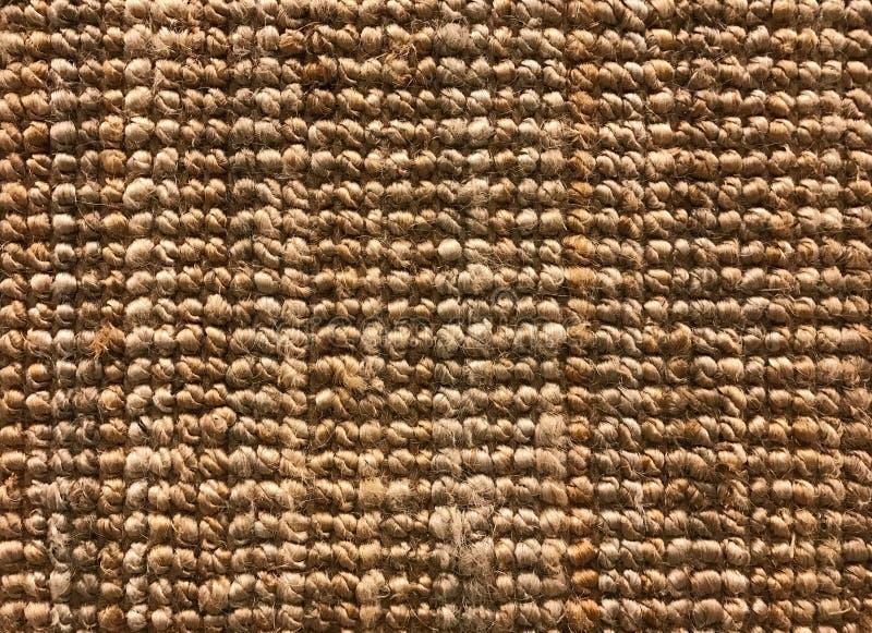 从西沙尔麻或天然纤维的被编织的地毯纹理背景的 免版税图库摄影