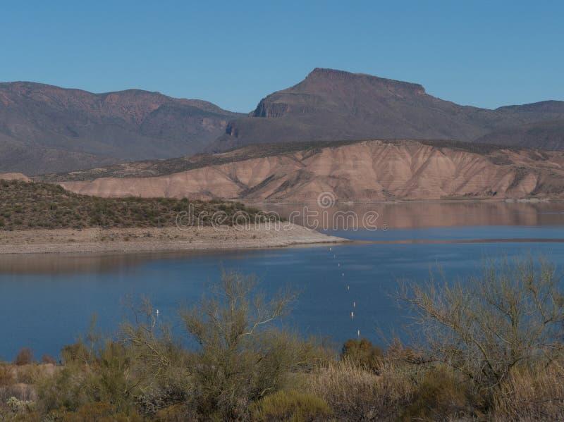 从访客的Theodore Roosevelt湖在亚利桑那集中, 库存照片