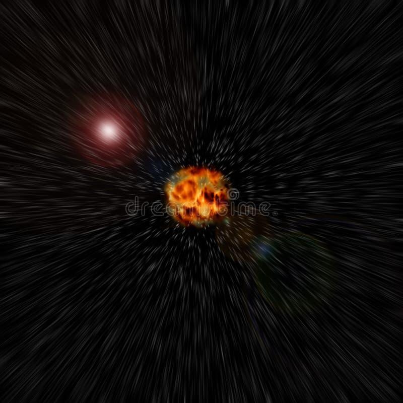 从超新星的换码 免版税库存照片