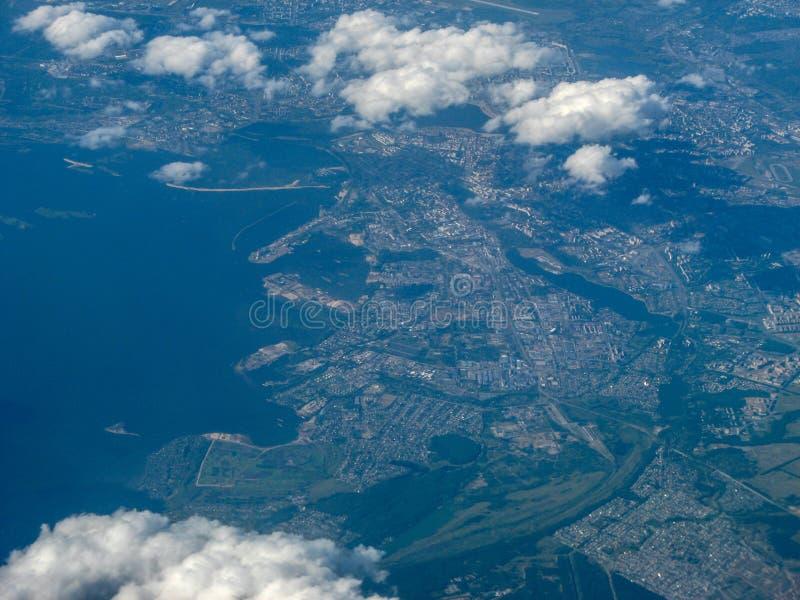 从车里雅宾斯克的飞行向莫斯科 库存图片