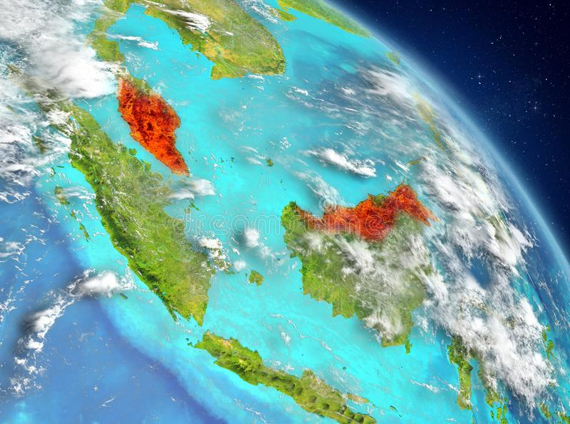 从轨道的马来西亚 库存例证