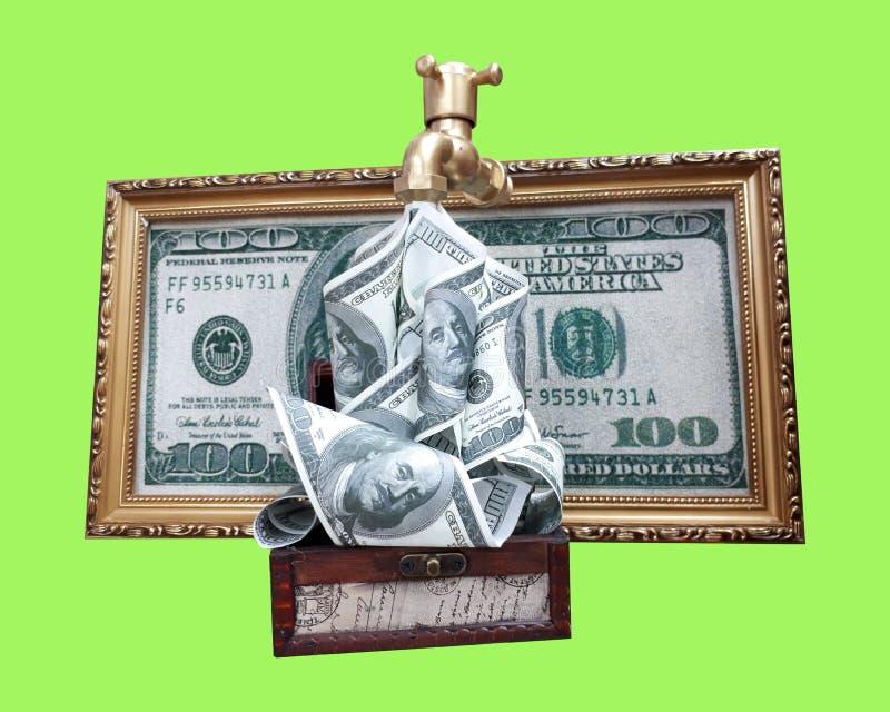 从轻拍的纪念品美元 库存照片