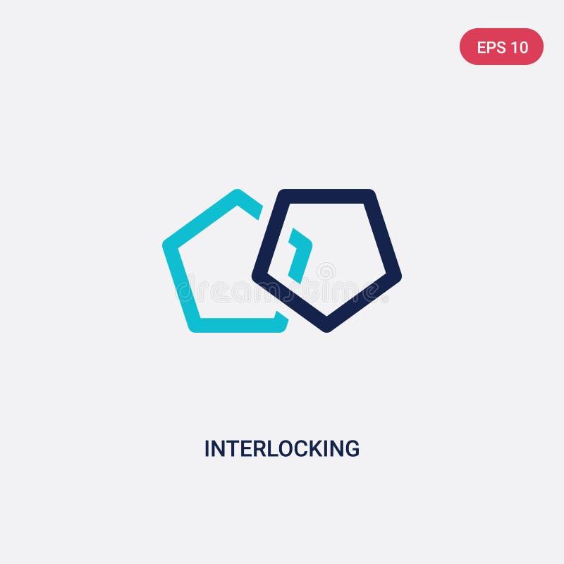 从逻辑分析方法概念的两种颜色的连结的传染媒介象 被隔绝的蓝色连结的传染媒介标志标志可以是网的用途, 向量例证