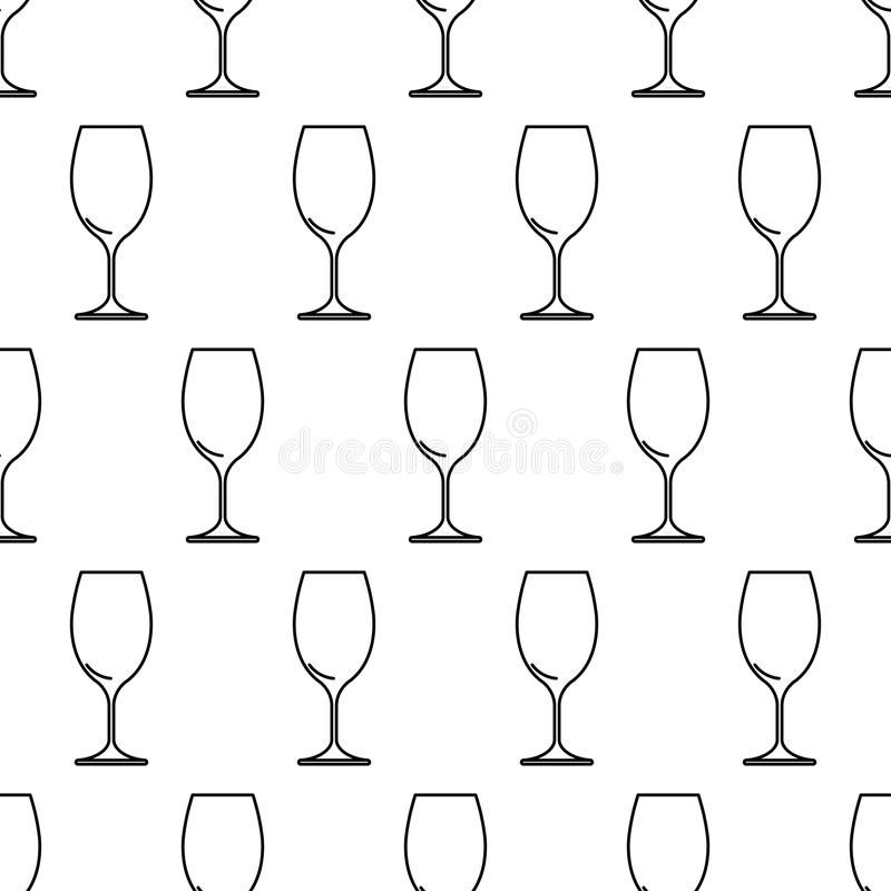 从酒杯黑色等高的无缝的样式在白色.图片