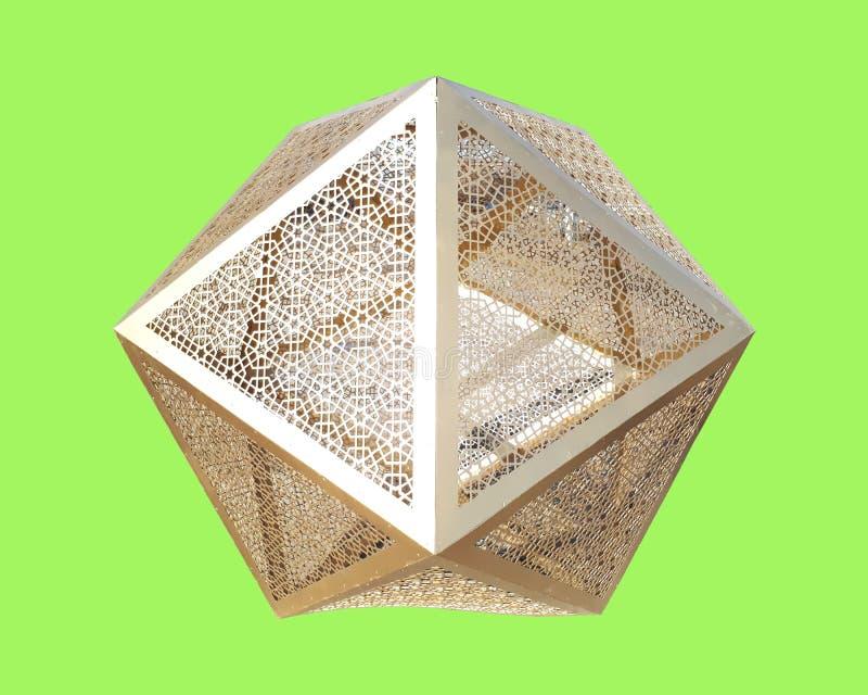 从金子的视域八角形物 库存图片