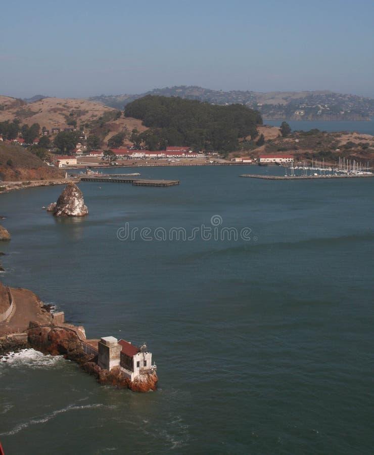 从金门海峡桥梁的看法 免版税图库摄影