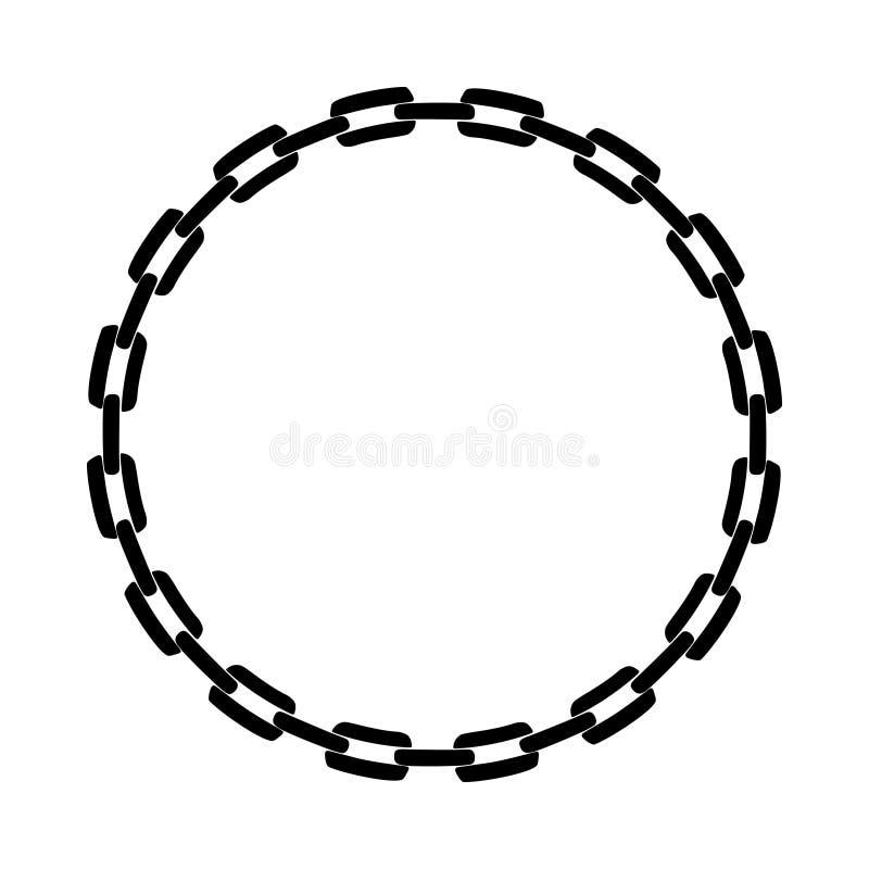 从链子的框架 皇族释放例证