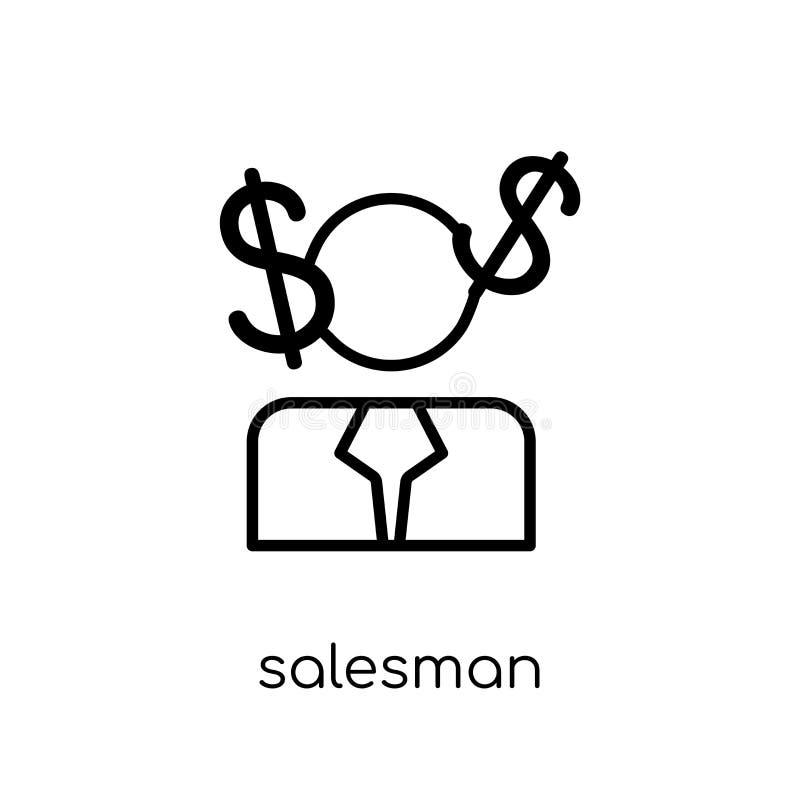 从销售的收藏的推销员象 库存例证