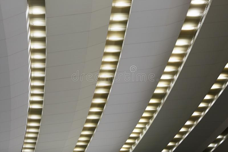 从阶段的看法在天花板 免版税库存图片