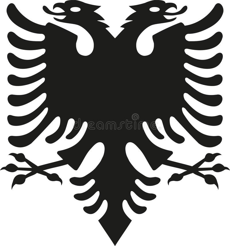 从阿尔巴尼亚旗子的老鹰 向量例证