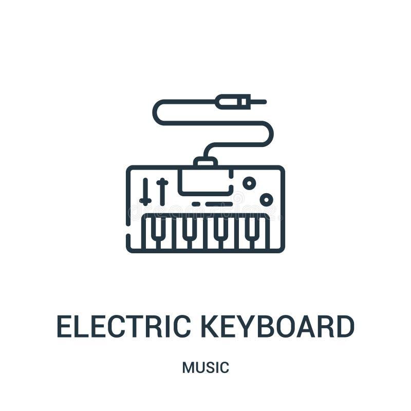 从音乐汇集的电键盘象传染媒介 稀薄的线电键盘概述象传染媒介例证 向量例证