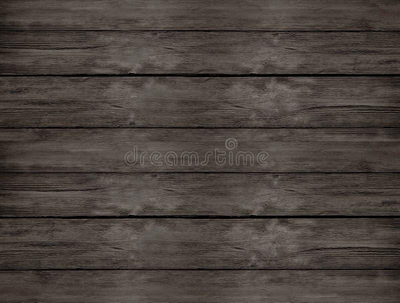从顶视图的黑褐色自然木桌 免版税库存照片