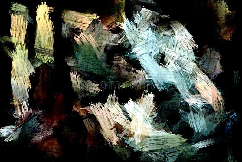 从颜色混乱被弄脏的斑点的抽象难看的东西背景掠过不同的大小冲程  皇族释放例证