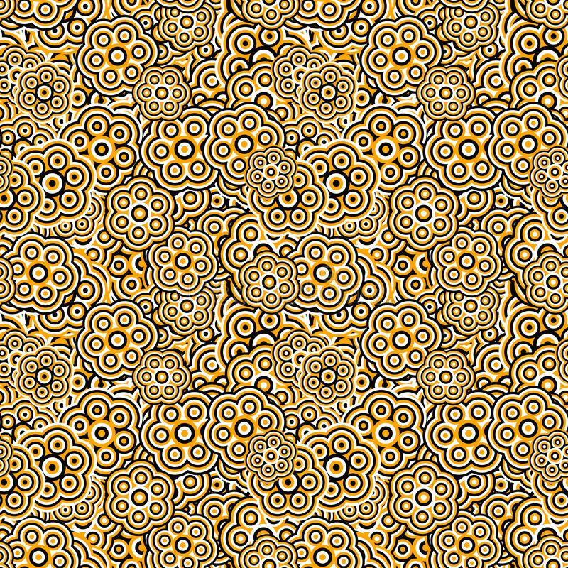 从风格化花的几何花卉样式背景墙纸 向量例证