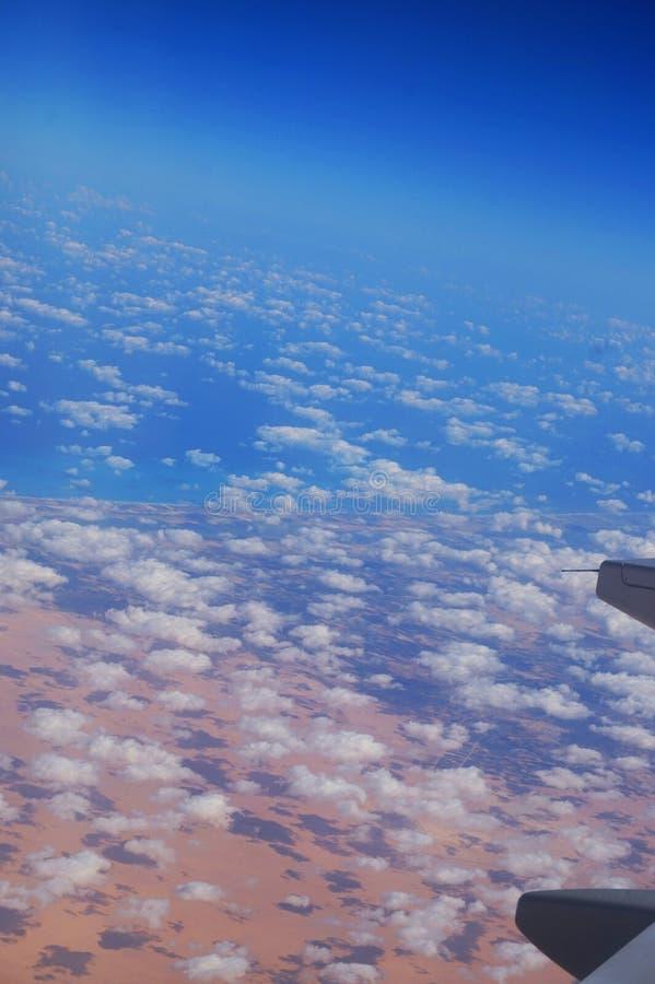 从飞机的埃及 免版税库存照片
