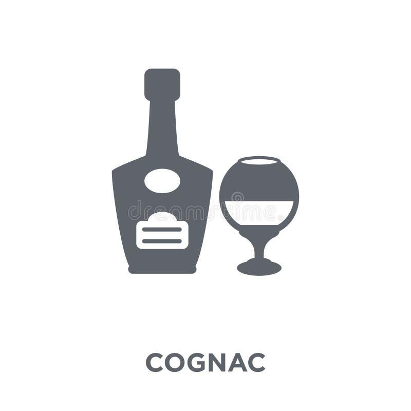 从饮料汇集的科涅克白兰地象 向量例证