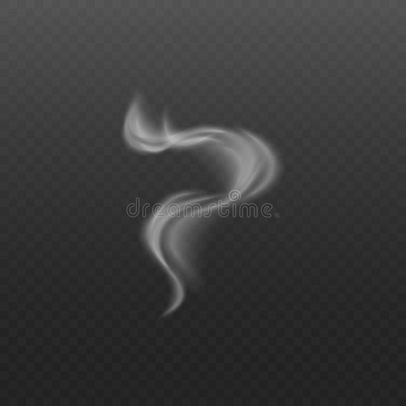 从香烟和热的食物传染媒介3d例证的烟或蒸汽波浪 皇族释放例证