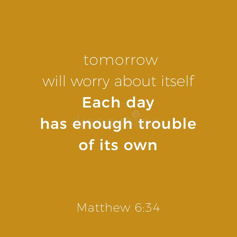 从马修福音书6的圣经的词组 库存例证