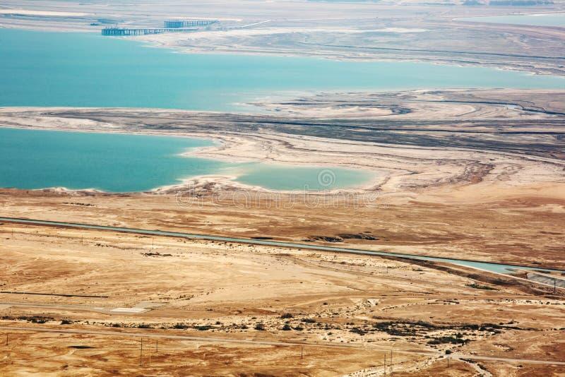 从马萨达的看法沙漠的在一好日子 库存照片