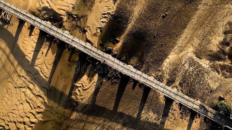 从高度的一座桥梁! 图库摄影