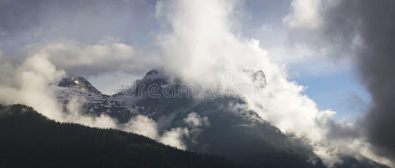 从高点Lofer奥地利的山景 免版税库存图片