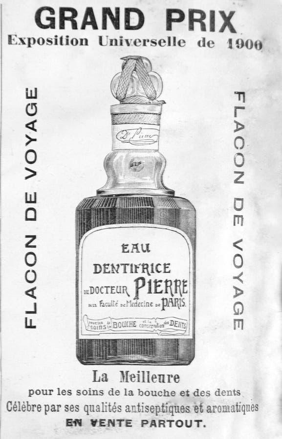从19世纪的结尾的古法语宣传 库存图片