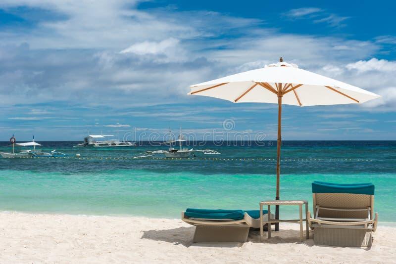 从Alona海滩的热带海滩背景在Panglao保和省 图库摄影