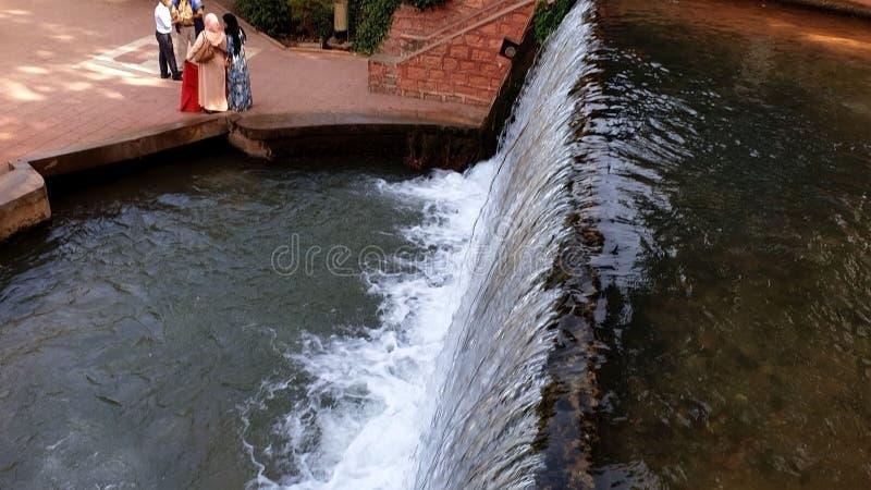 从Aserdon喷泉  库存图片