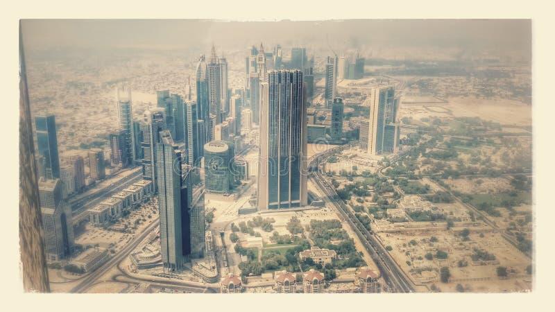 从Burj的迪拜 图库摄影
